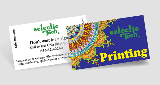 Is it cheaper to print your own business cards eclectic tech eclectic techs new professional business cards reheart Gallery
