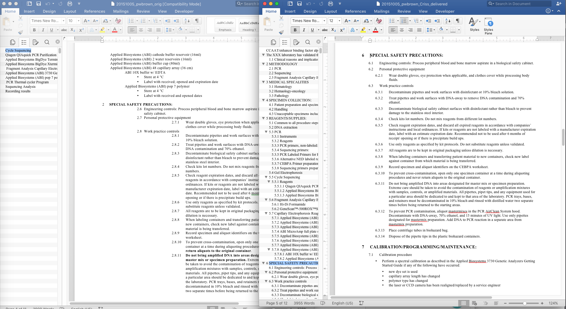 Before (left) & After (right) for a science journal submission